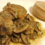 Solomillo de cerdo ibérico con salsa de champiñones