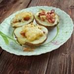 Patatas rellenas de jamón ibérico y queso