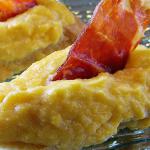 Crema de tortilla y jamón ibérico de bellota