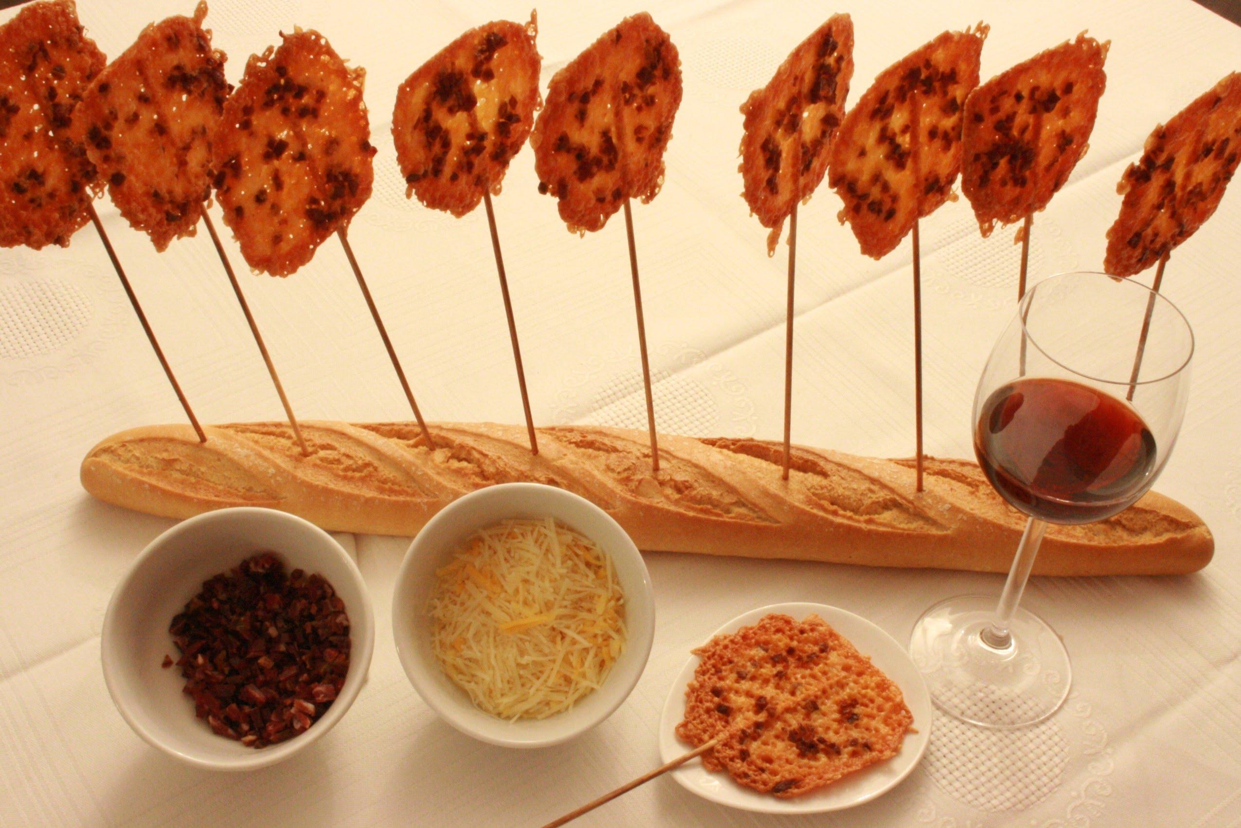 Snack divertido y fácil de hacer, piruleta de jamón ibérico y queso