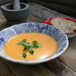 Especial Halloween: sopa de calabaza con virutas de jamón ibérico