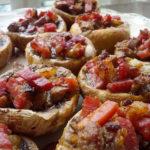 Champiñones rellenos de jamón ibérico