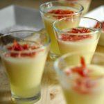 Chupitos de melón con jamón ibérico de bellota